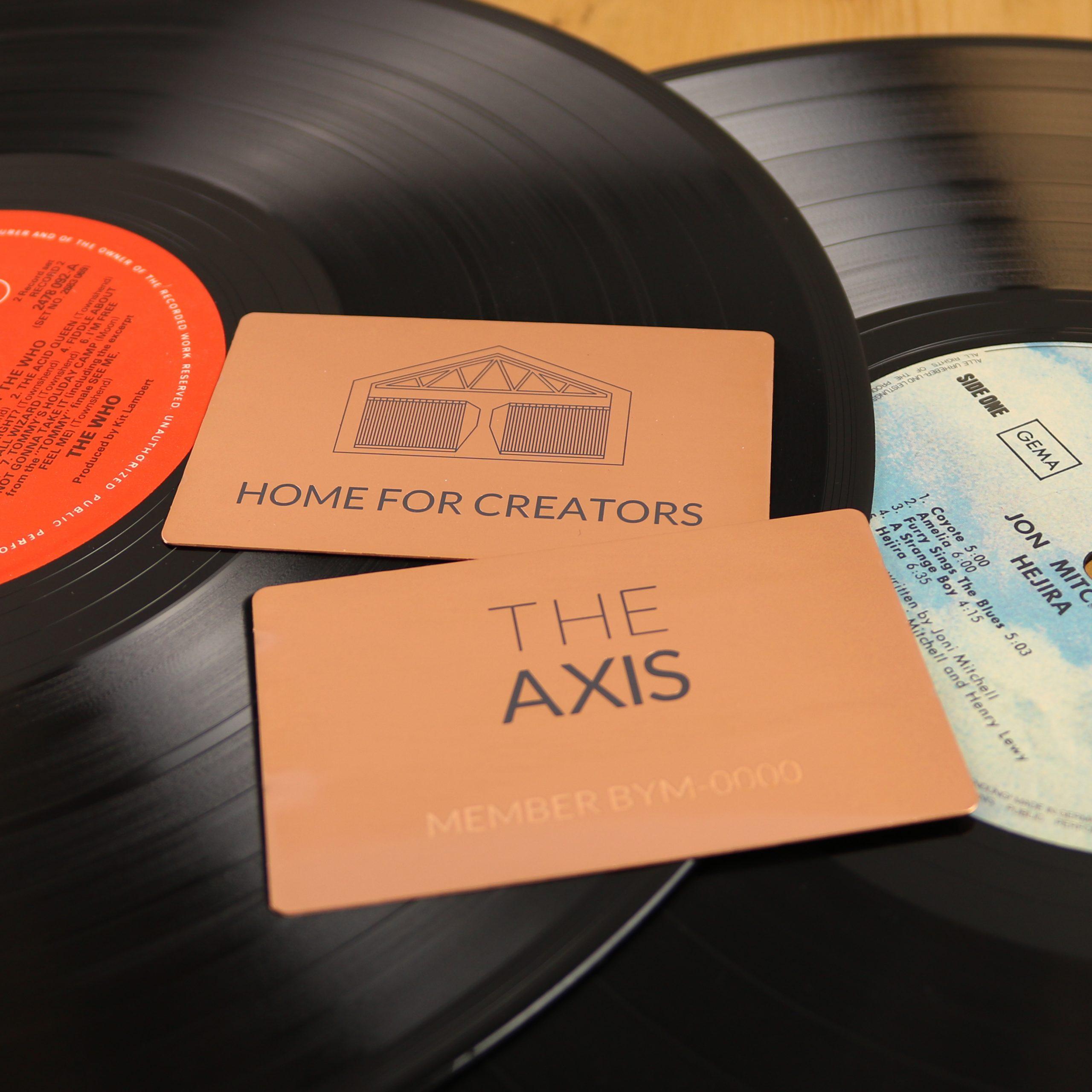 The Axis - Metal Membership Cards