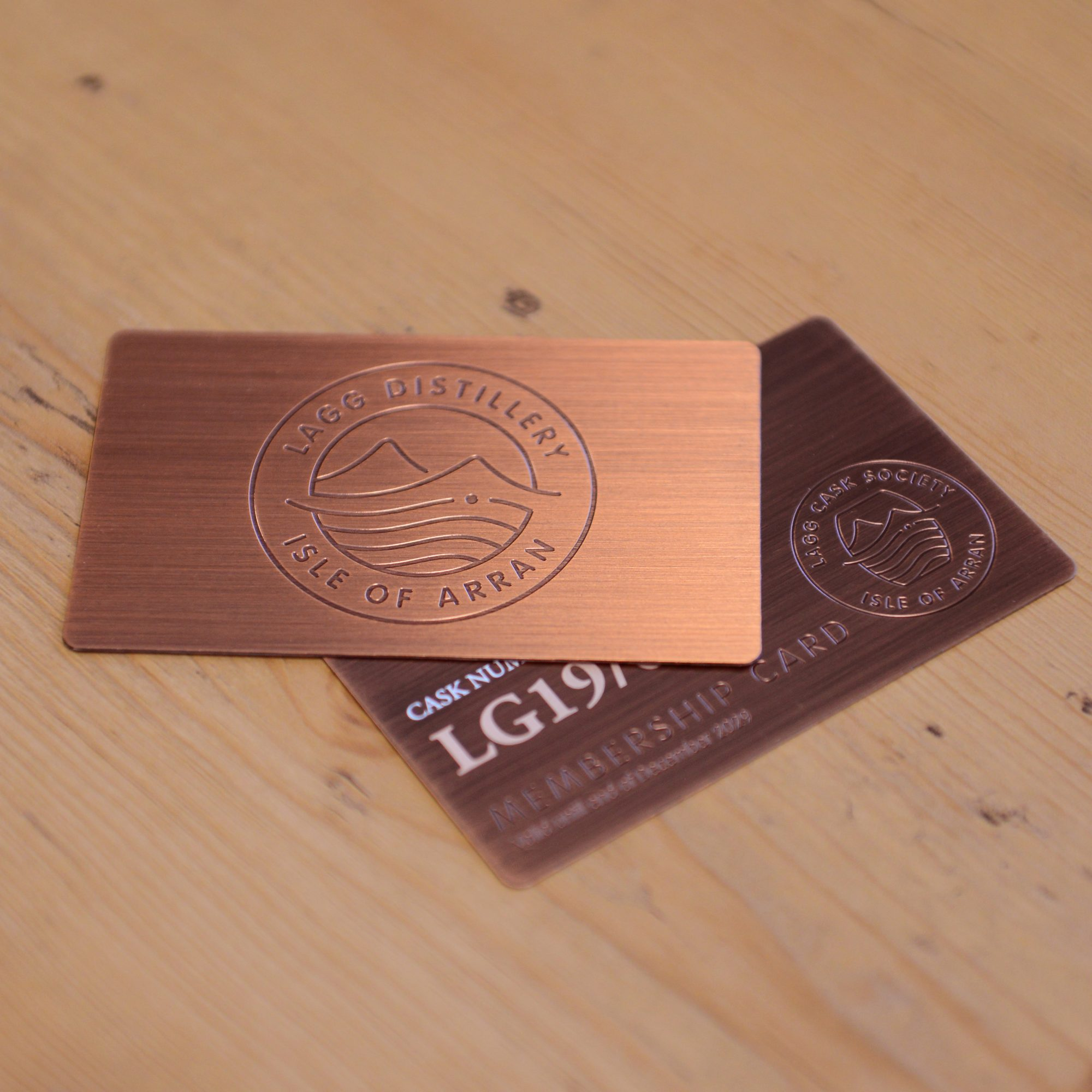 Brushed Antique Copper Cards - Lagg Distillery