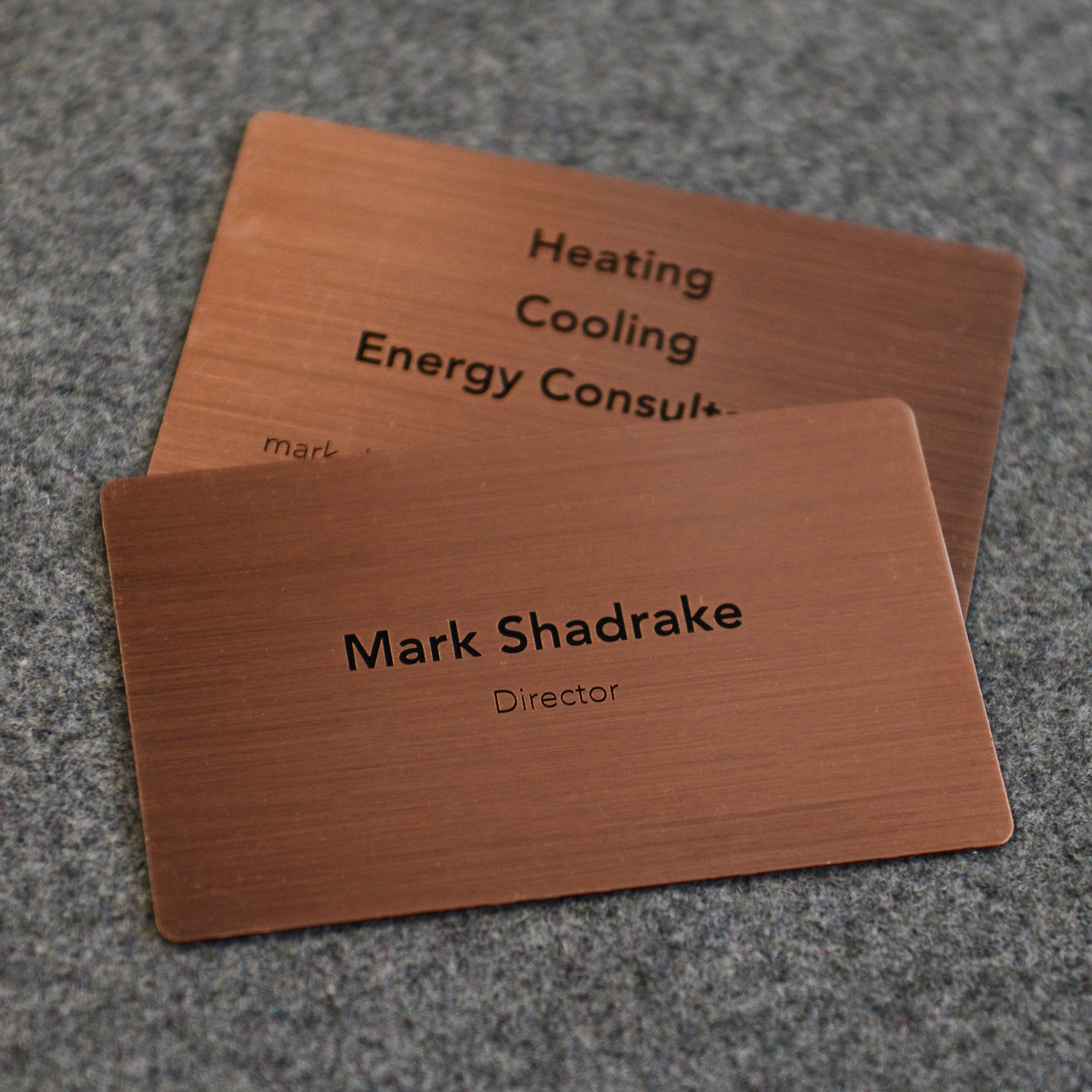 Brushed Antique Copper Cards