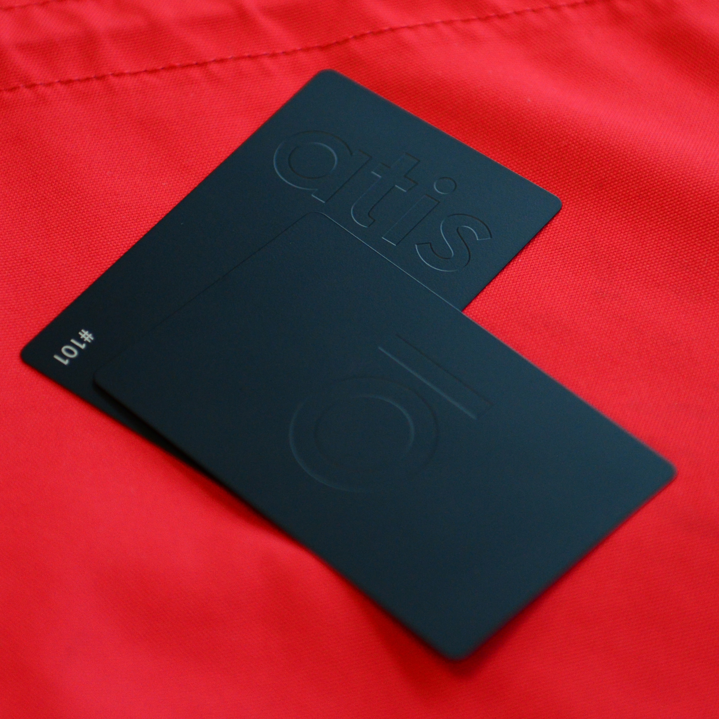 Matt Black metal cards - Atis