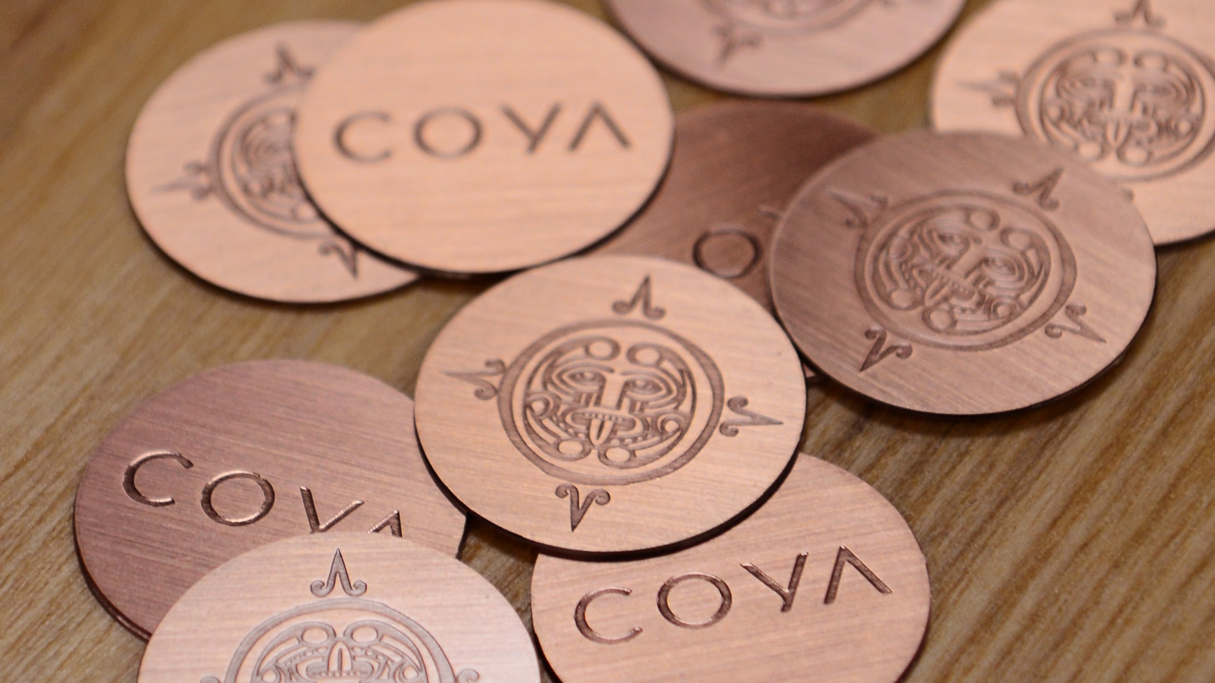 Brushed Antique Copper Cards - Coya