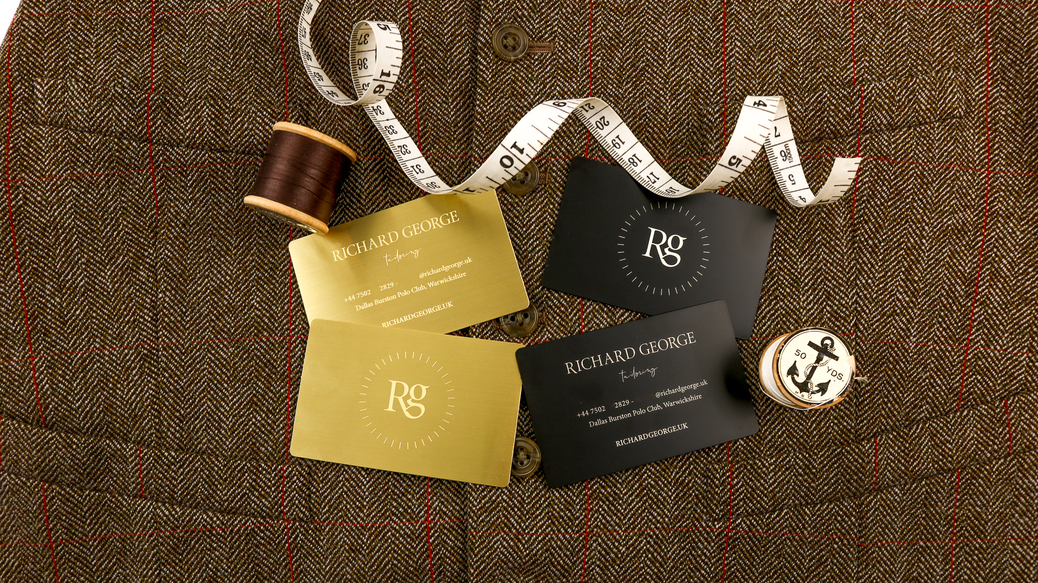Richard George Tailoring - Metal Business Cards