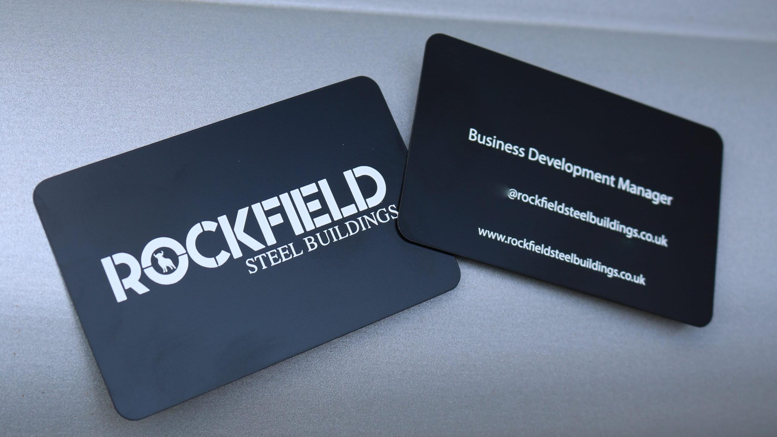 Rockfield Steel Buildings - Metal Business Cards