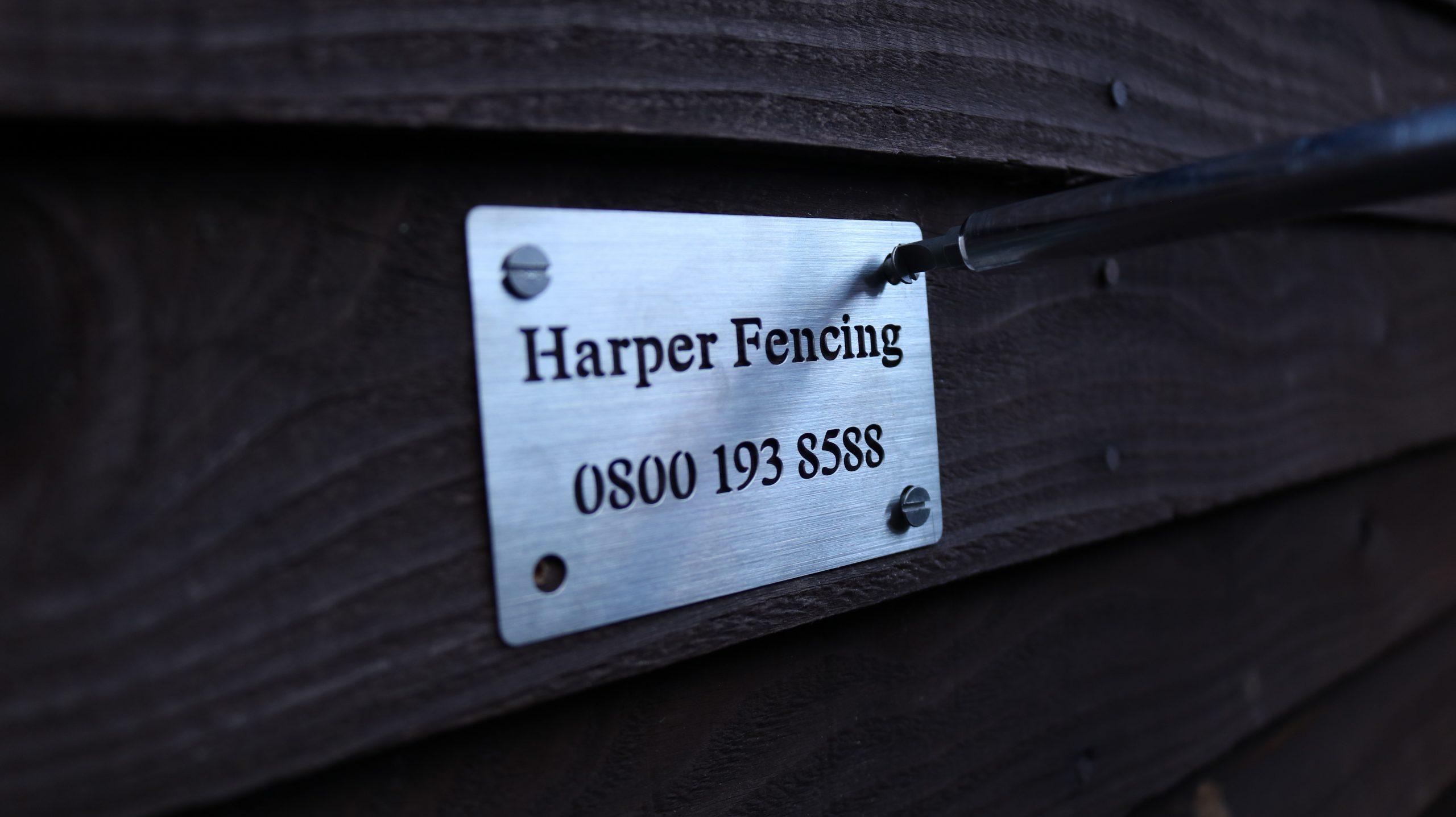 Harper Fencing - Metal Business Card