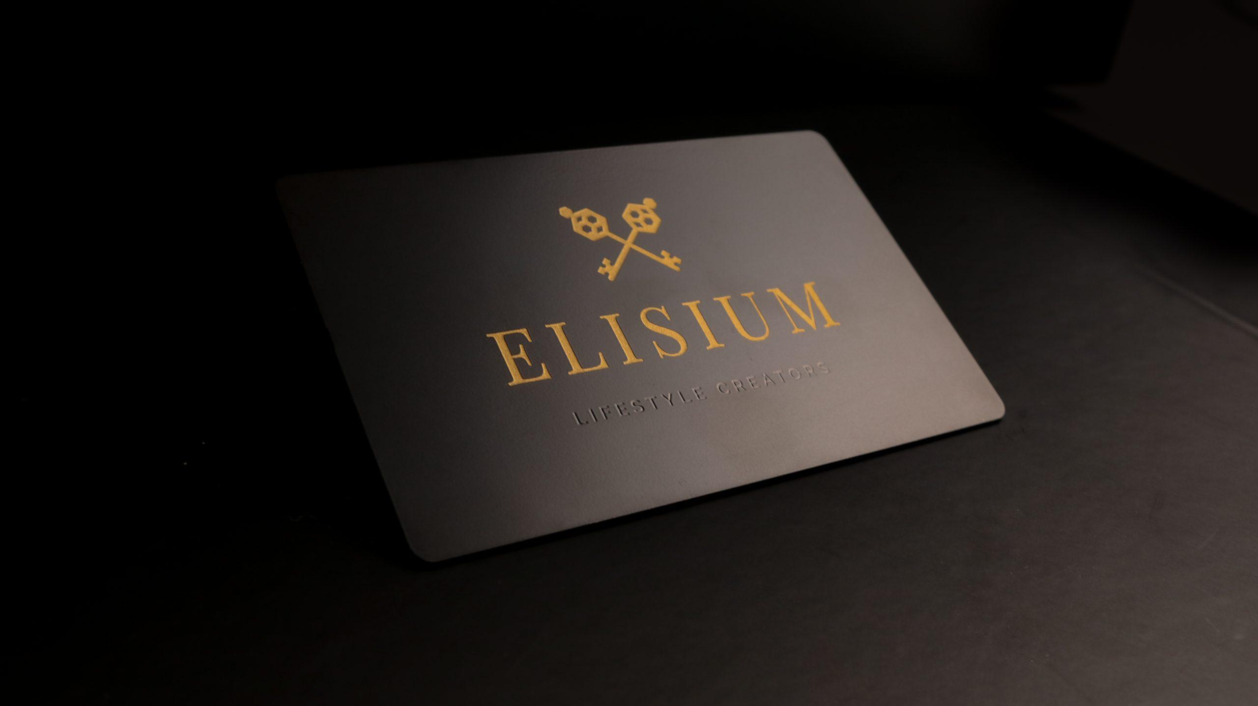 Ellisium Travel - Metal Business Cards