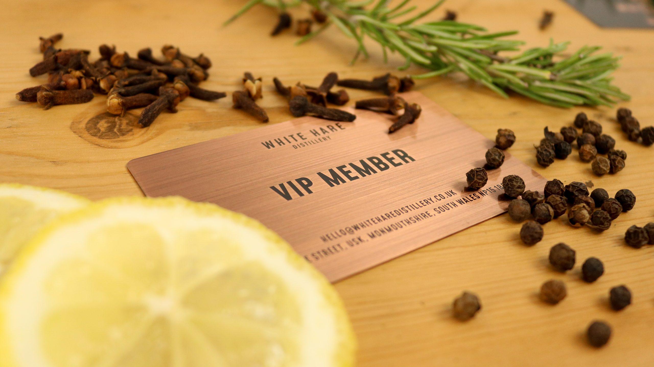 White Hare Distillery - Metal Membership Cards