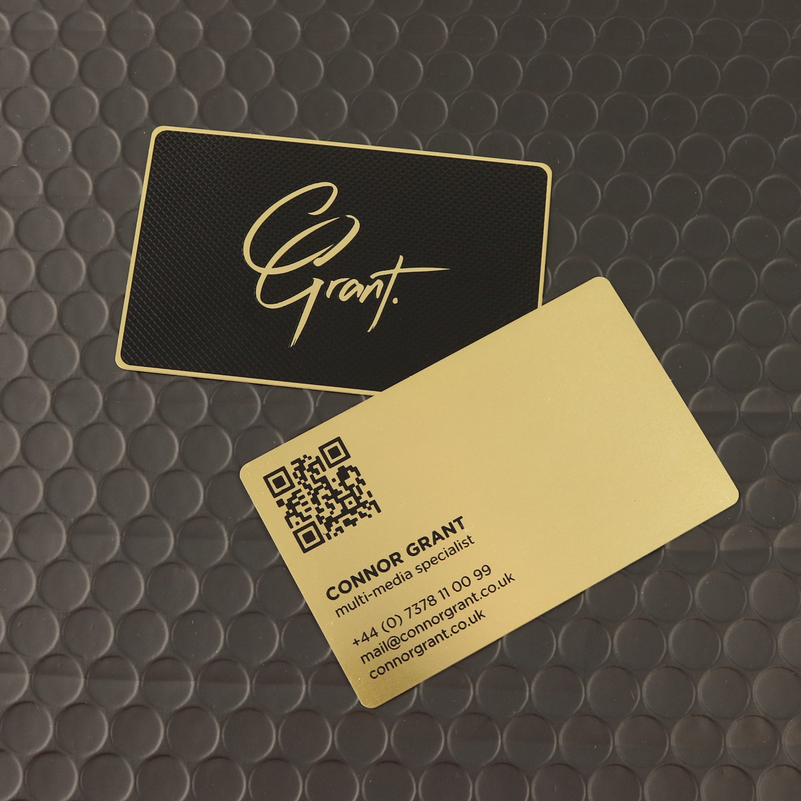 Connor Grant Metal Business Cards