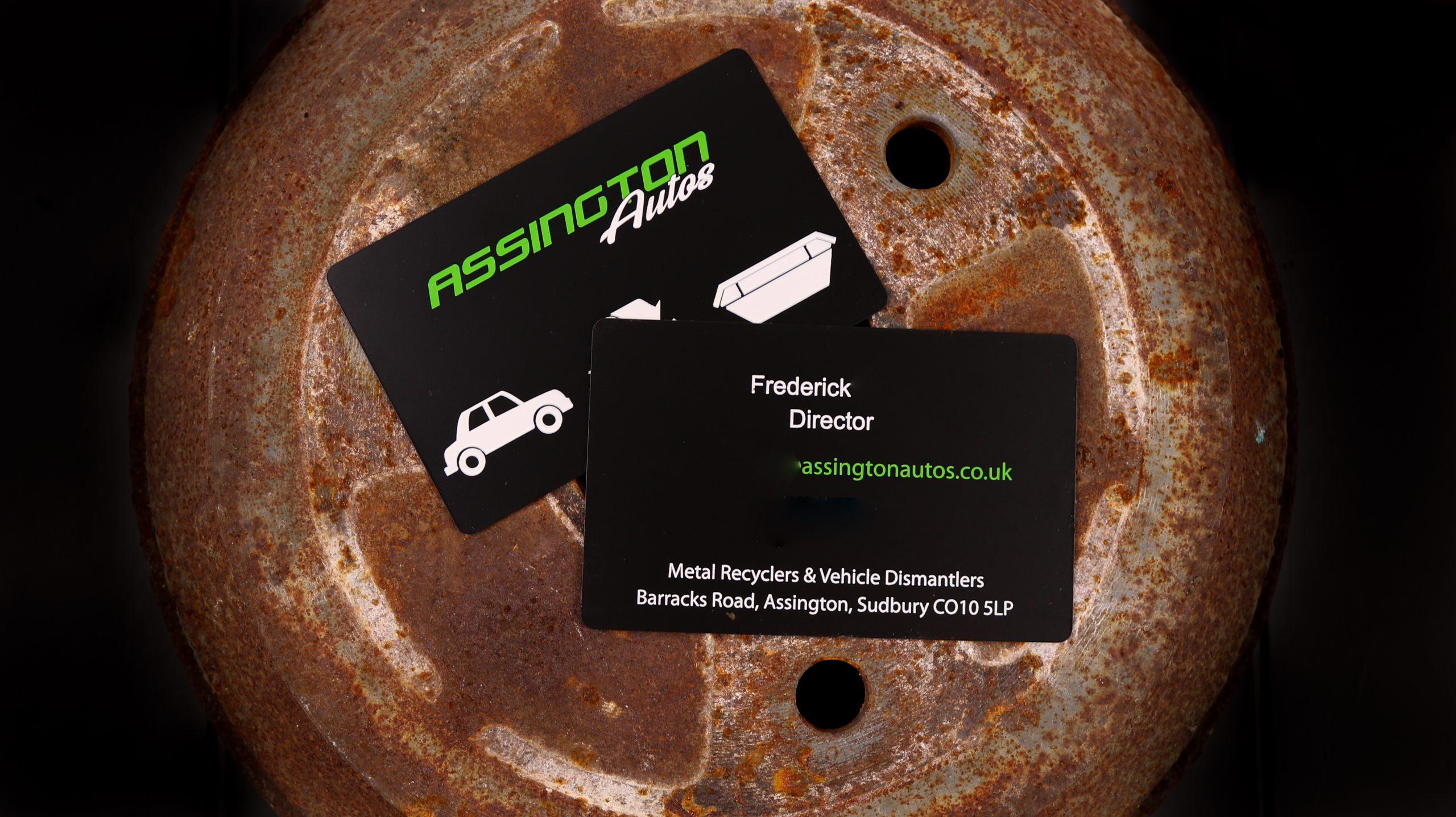 Assington Autos - Metal Business Card